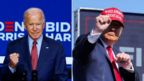 Trump and Biden composite image