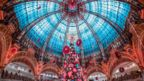 Glass ceiling at Galeries Lafayette in Paris