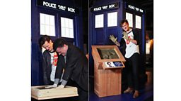 Matt Smith and Steven Moffat cement their place in history during Doctor Who Experience visit