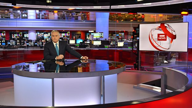 Huw Edwards, presenter BBC News at Ten and BBC News Channel