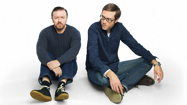 Ricky Gervais and Stephen Merchant, creators of Life's Too Short