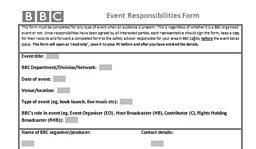 Events: Responsibilities Form
