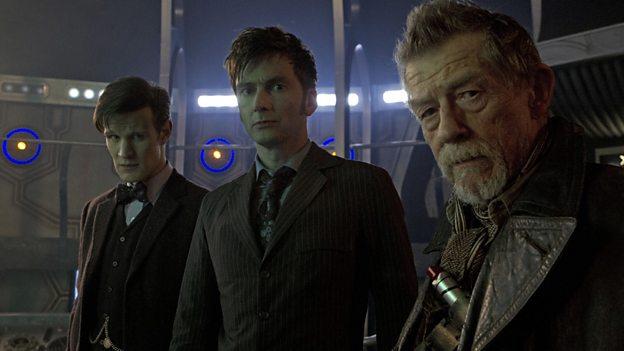 Matt Smith, David Tennant and John Hurt