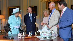 Her Majesty The Queen and His Royal Highness the Duke of Edinburgh visit BBC One's Antiques Roadshow