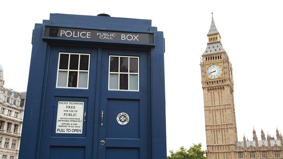The TARDIS lands