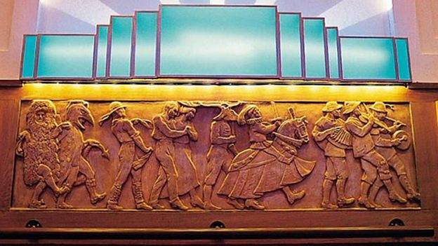Gilbert Bayes friezes in the Radio Theatre