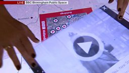 """Archive touch-table developed for 50th anniversary of """"Midlands Today"""""""