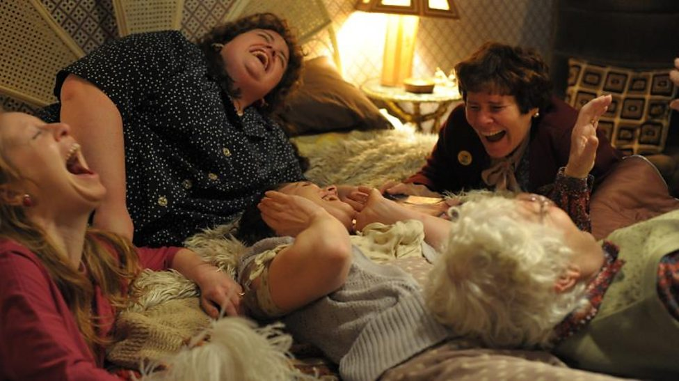 Imelda Staunton and supporting cast in Pride