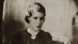 February 12, 1937 - Jasmine Bligh shown on a TV screen
