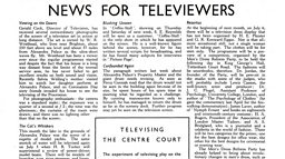 June 25, 1937 - Televising The Centre Court