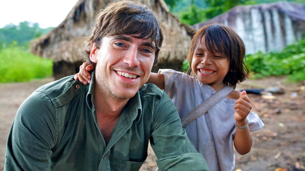 Simon with the son of Mamo Luntana of the Kogi tribe