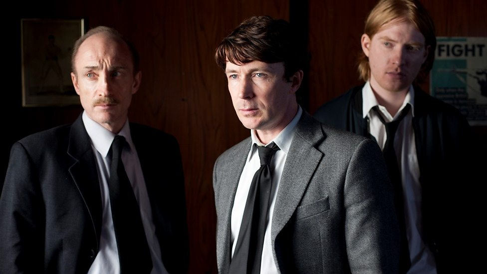 David Wilmot, Aidan Gillen, Domhnall Gleeson in Shadow Dancer