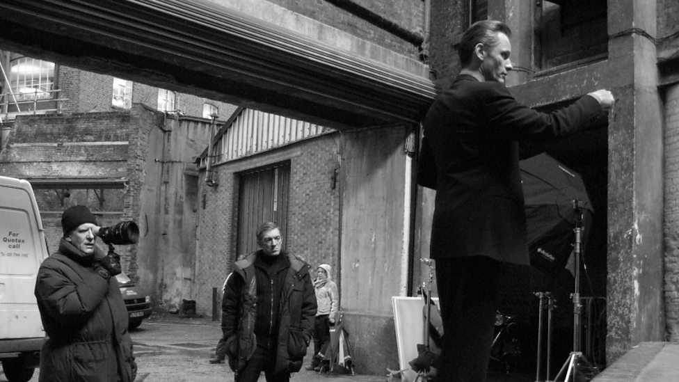 David Cronenberg, Vincent Cassel and Viggo Mortensen on the set of Eastern Promises
