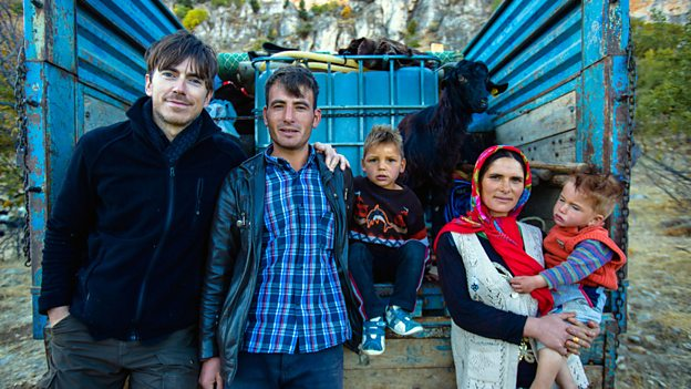 Simon Reeve with Yoruk nomad family