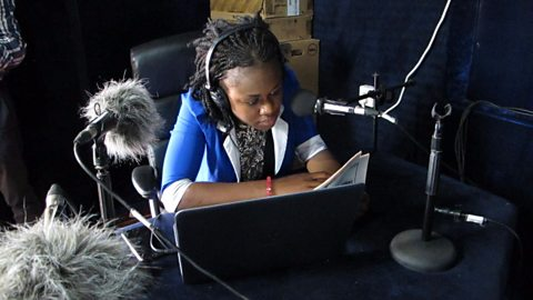 Using radio and television to inspire young people in Sierra Leone