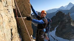 CBBC cameras follow Steve Backshall as he attempts to scale the Eiger
