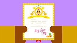 Hey Duggee cordially invites you to celebrate King Tiger's Royal Wedding on CBeebies on 19 May at 7.25am