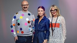 Stacey Dooley, Val Garland and Dominic Skinner make-up the faces of Glow Up