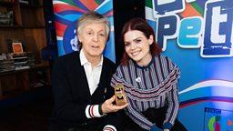 Sir Paul McCartney awarded Gold Blue Peter Badge