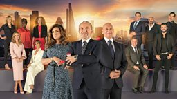 Lord Sugar puts ten celebrities through their paces in Celebrity Apprentice for Comic Relief