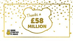 BBC Children in Need announces 2018 fundraising total: £58 million