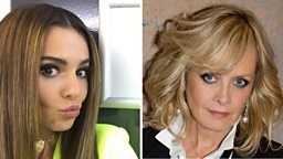 And the category is: Pop Culture Icon eleganza! Cheryl and Twiggy ru-vealed
