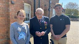 Blue Peter salutes Captain (Colonel) Tom with Gold Badge award