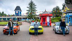 Top Gear hurtles back to filming with race around deserted theme park
