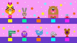 Hey Duggee and The Game Show Badge featuring University Challenge, Through The Keyhole, The Generation Game, Who Wants To Be A Millionaire? and Mastermind