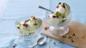 Pistachio and rose ice cream
