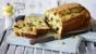 Cheese, pistachio and prune cake