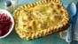 Chicken pot pie with spicy coleslaw