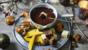 Chocolate, orange and spice fondue