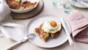 Crisp bacon rosti with fried eggs