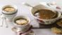 French onion soup with cheese mustard croûtes