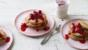 Oat pancakes with raspberries and honey
