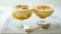Poached peaches with zabaglione