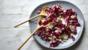 Radicchio, chestnut and blue cheese salad