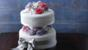Simple two-tiered wedding cake