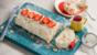 Strawberry and almond roulade