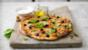 Tomato, mozzarella and basil pizza