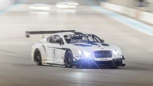 Bentley is back on track