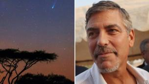 Africa and Clooney race to orbit