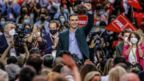 Spanish Prime Minister Pedro Sanchez speaking at his party conference n Valencia.
