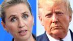 Denmark's Prime Minister Mette Frederiksen (L) and US President Donald Trump