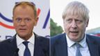 Donald Tusk and Boris Johnson