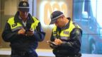 Police outside ABC office in Sydney
