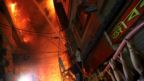 A view of a scene of a fire that broke out at a chemical warehouse in Dhaka, Bangladesh, 20 February 2019.