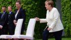 Angela Merkel with Danish Prime Minister Mette Frederiksen on 11 July