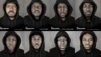 56 Black men wearing hoodies